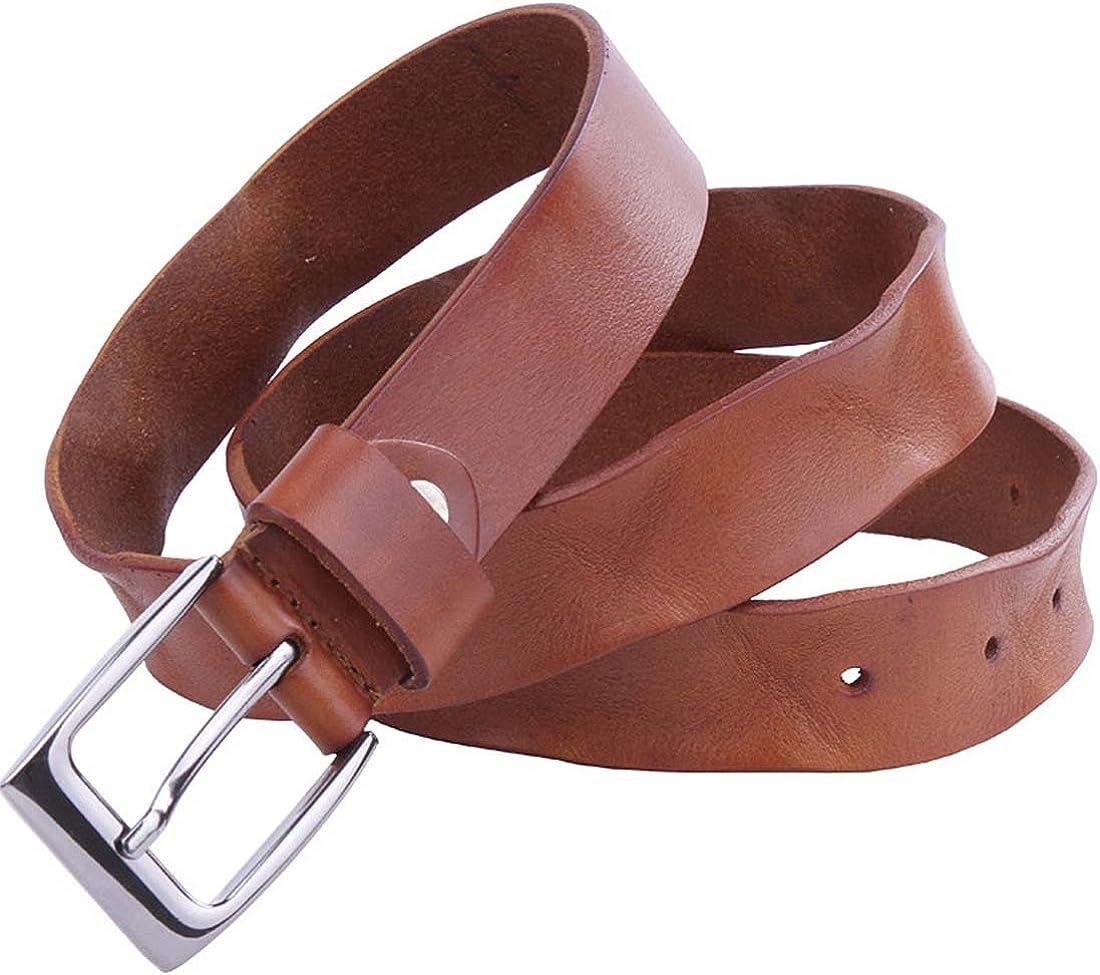 Nidicus Handmade Single Prong Metal Buckle Rugged Natural Genuine Leather Belt