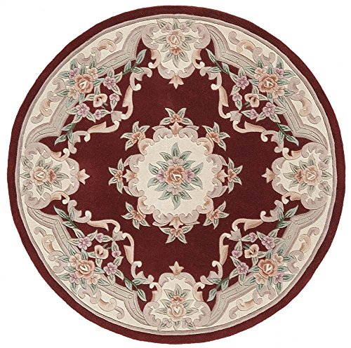 Rugs America RA21825 Area Rug, 6-Feet, Burgundy