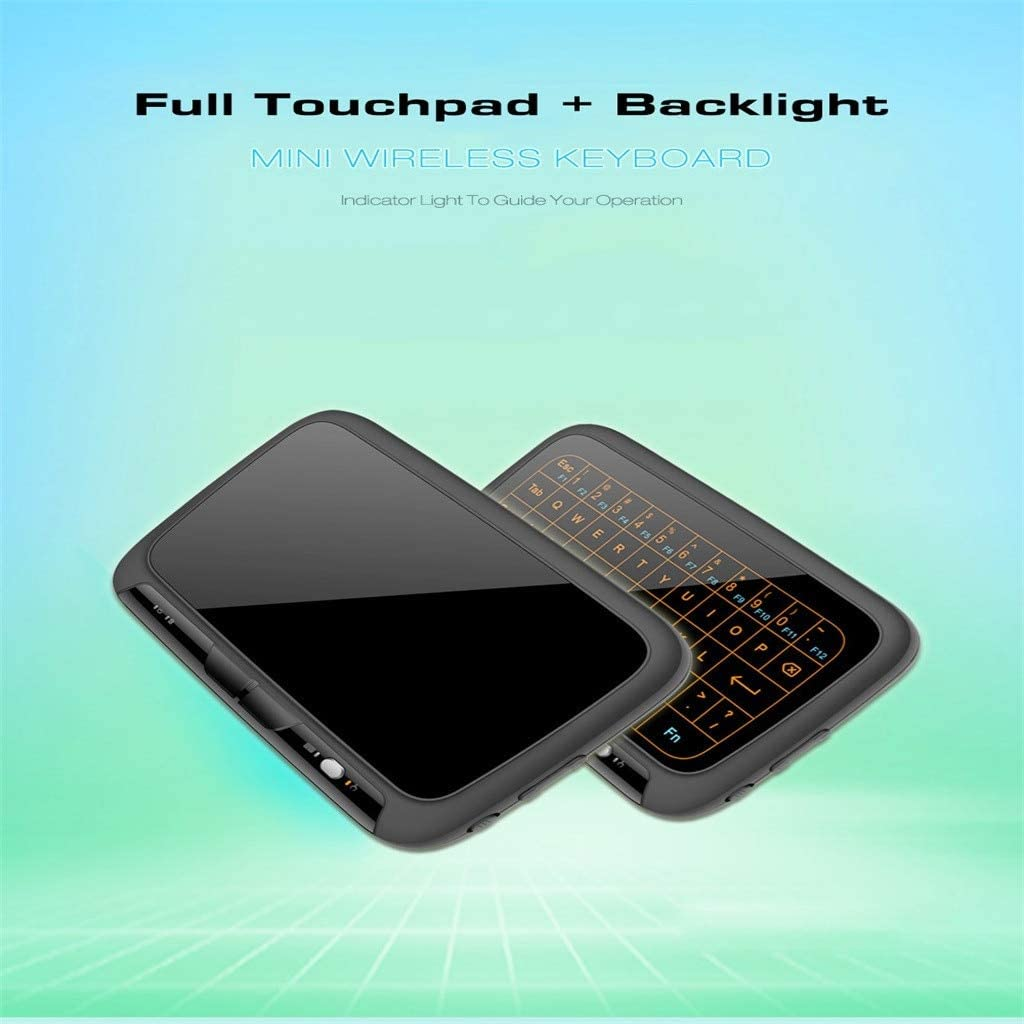 HLOIPYUR Wireless Air Mouse Mini Keyboard Full Screen Touch 2.4GHz Keyboard Touchpad with Backlight Function Smart