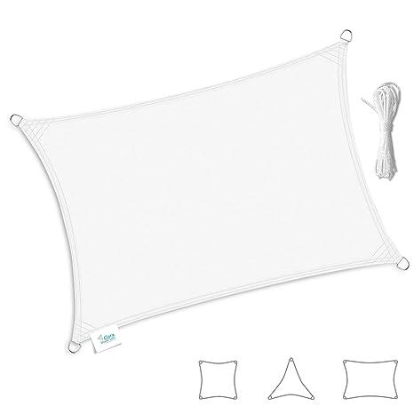 Toldo Vela Clara Shade Sail blanco impermeable sol vela de sombra para jardin impermeable UV Canopy
