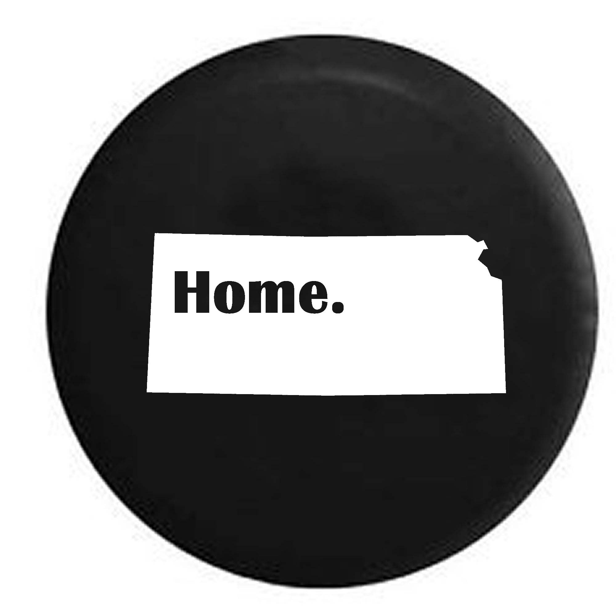 Kansas Home State Edition RV Spare Tire Cover OEM Vinyl Black 30 in