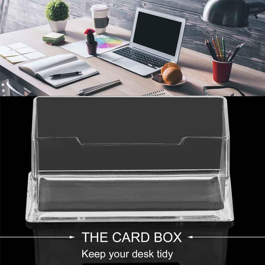 Desktop-Visitenkartenhalter-Ausstellungsstand Acryl-Kunststoff-Schreibtisch ZY