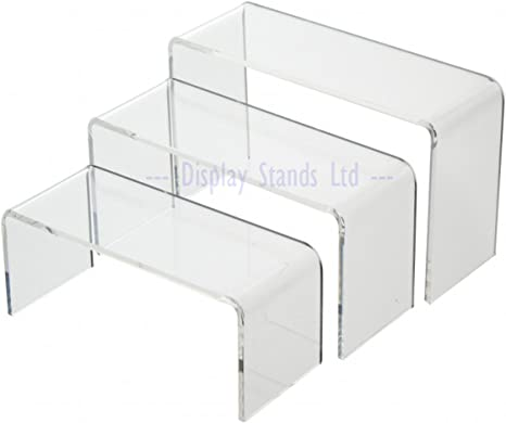 Grand /écran en acrylique Transparent plinthes /écran vente au d/étail Lot de 3/ G140