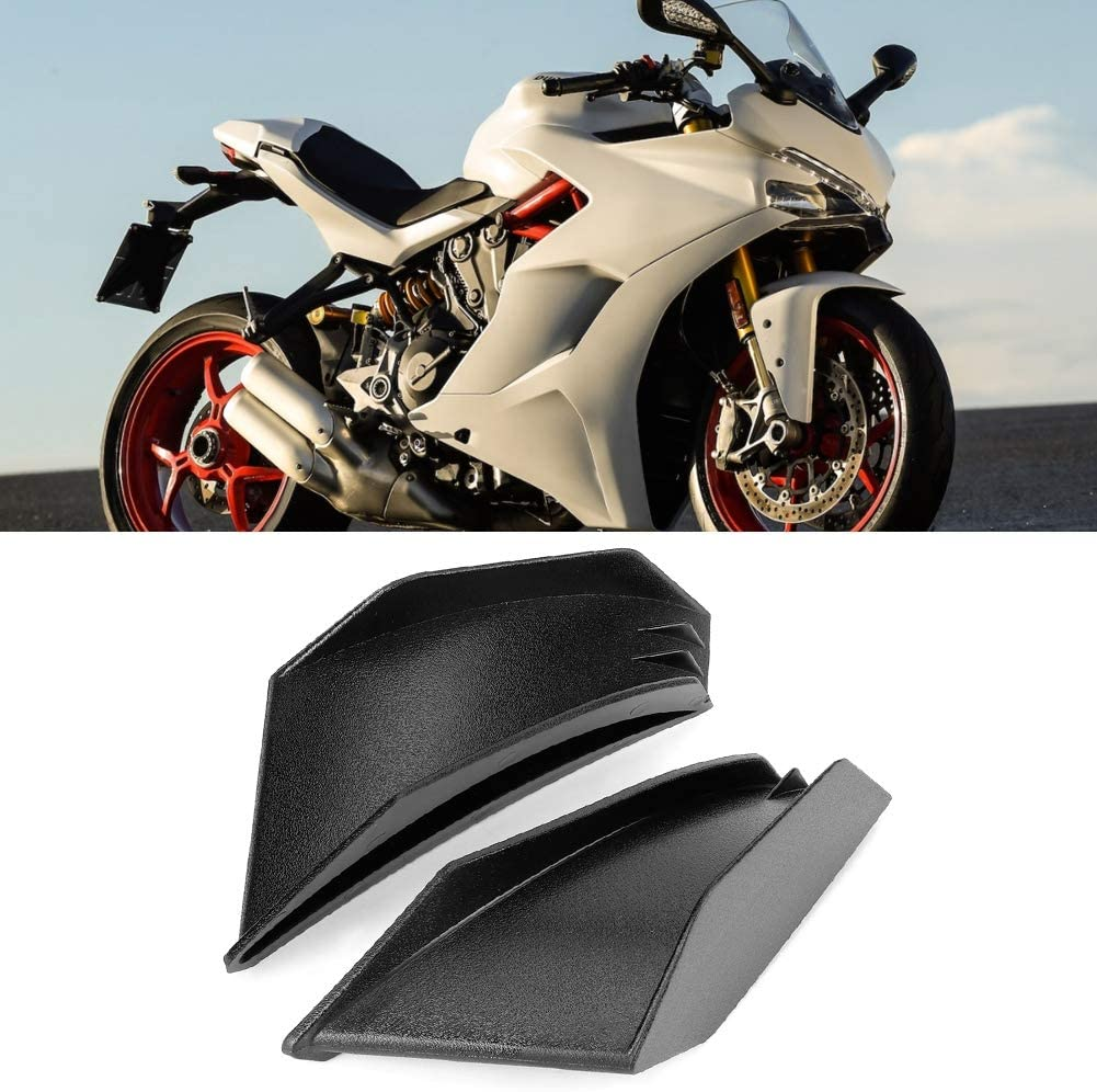 Gorgeri 1 Pair Motorcycle Aerodynamic Winglet Kit ABS Material Universal Fairing Winglet Black