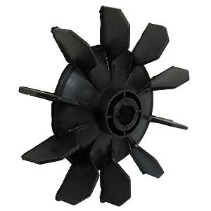 SODIAL(R) Hoja del ventilador de motor de diez palas 14mm diametro interno plastico negro Pieza del compresor de aire