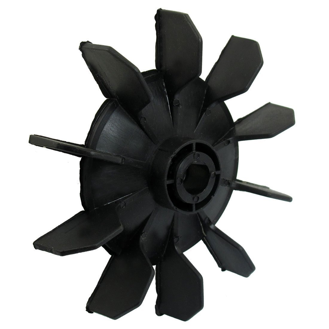 SODIAL(R) Air Compressor Part Black Plastic 14mm Inner Dia. Ten Vanes Motor Fan Blade