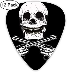 HAIDILUN Scary Teeth Jaw of Shark Clipart Guitar Picks Plectrums Acoustic Guitar Ukulele Picks 0.46 Mm, 0.73mm, 0.96 Mm,12 Pack
