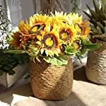 famibay-Artificial-Sunflower-Bouquets-7-Floral-Head-Vantage-Fake-Sunflowers-Silk-Plastic-Plants-with-Stem-for-Home-Decoration-Wedding-Party-Garden-HotelOrange