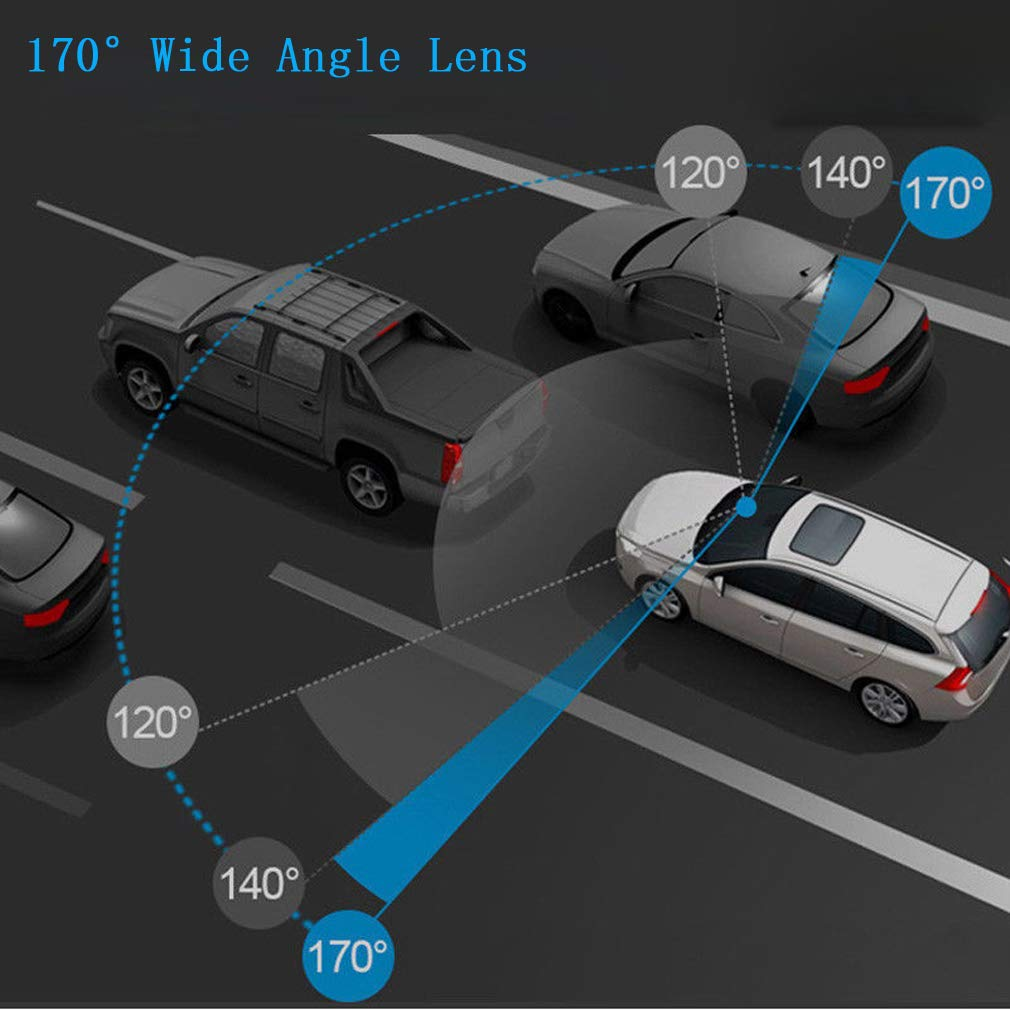 Inverso e Rilevamento del Movimento VGROUND Dashcam per Auto 7 Pollici Touch Screen 1080P Front Cam e 720P Impermeabile Backup Cam Car Dash Cam Kit con G-Sensor Loop Recording Telecamera per Auto