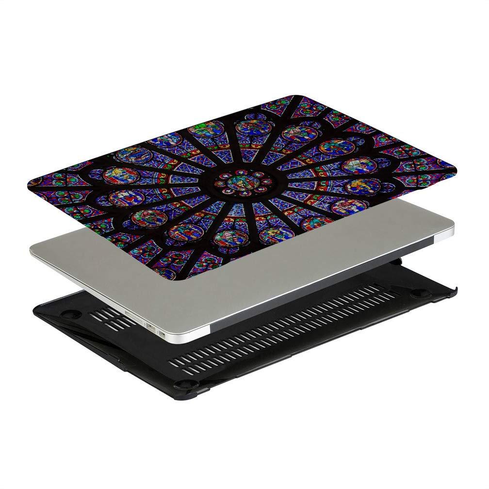 MacBook Cover 15 Inch Rose Window Notre Dame De Paris Plastic Hard Shell Compatible Mac Air 11 Pro 13 15 MacBook Pro 2016 Case Protection for MacBook 2016-2019 Version