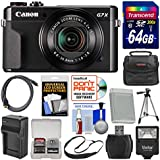 Canon PowerShot G7 X Mark II Wi-Fi Digital Camera 64GB Card + Case + Flash + Battery & Charger + Tripod + Strap + Kit