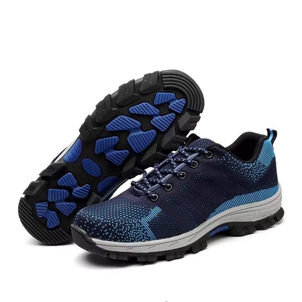 ZHRUI  Herren Puncture Resistant Labour Insurance Schuhe Breathable Stahl Toe Schuhe (Farbe : Blau, Größe : EU 39)