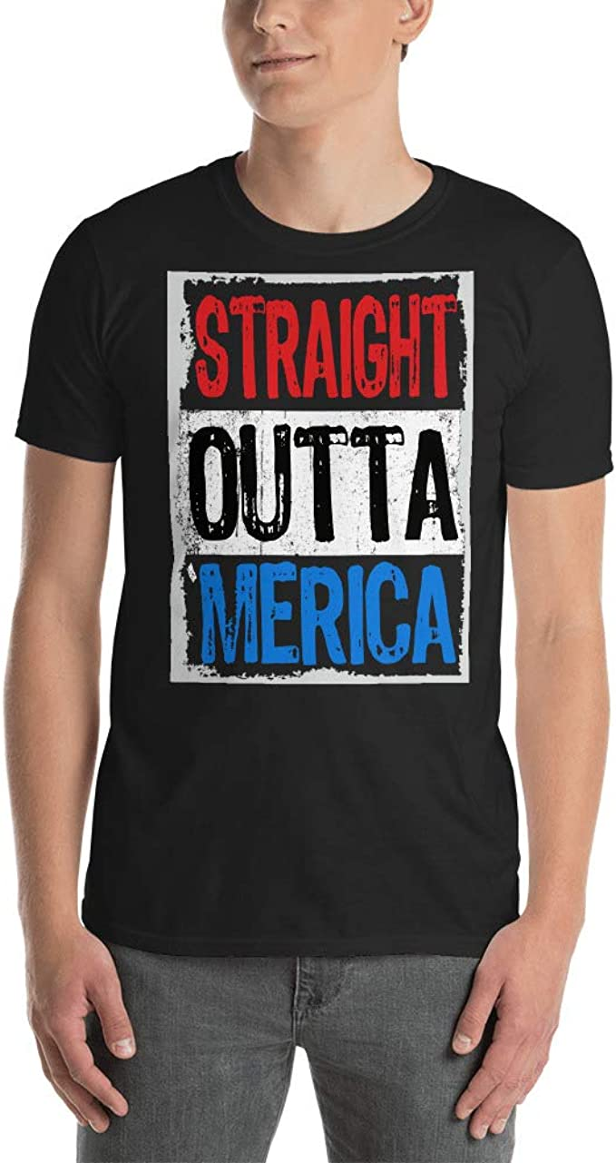 Tony Rubino Straight Outta Merica T-Shirt 4th of July Gift Shirt Tees Tee Short-Sleeve Unisex T-Shirt