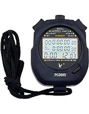 Ckeyin - Cronómetro, deportivo, cronógrafo, pantalla de 3líneas, 60 memorias