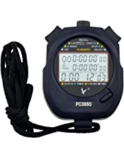 CkeyiN - Cronometro ,Cronometro Timer ,60 Memoria, Display a 3 Righe ,Timer LCD Portatile - Nero