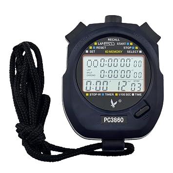 dc2fd28ec CkeyiN-Cronómetro ,Cronómetro Digital Deportivo Profesional ,Cronómetro  Temporizador Portátil ,Con Gran Pantalla Lcd ,Tres Filas De 60 Memorias De  Vuelta ...