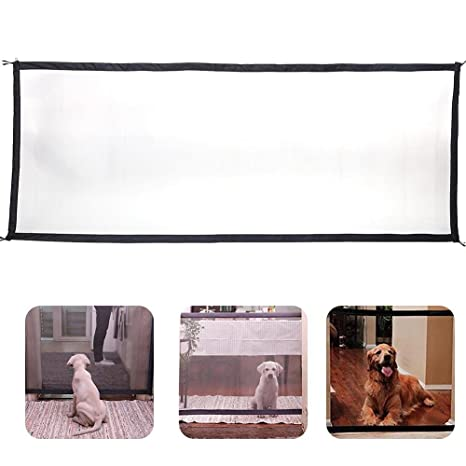 KOBWA Puerta de Seguridad para Perro, Portón Mágico, Portátil, Plegable, Barrera de
