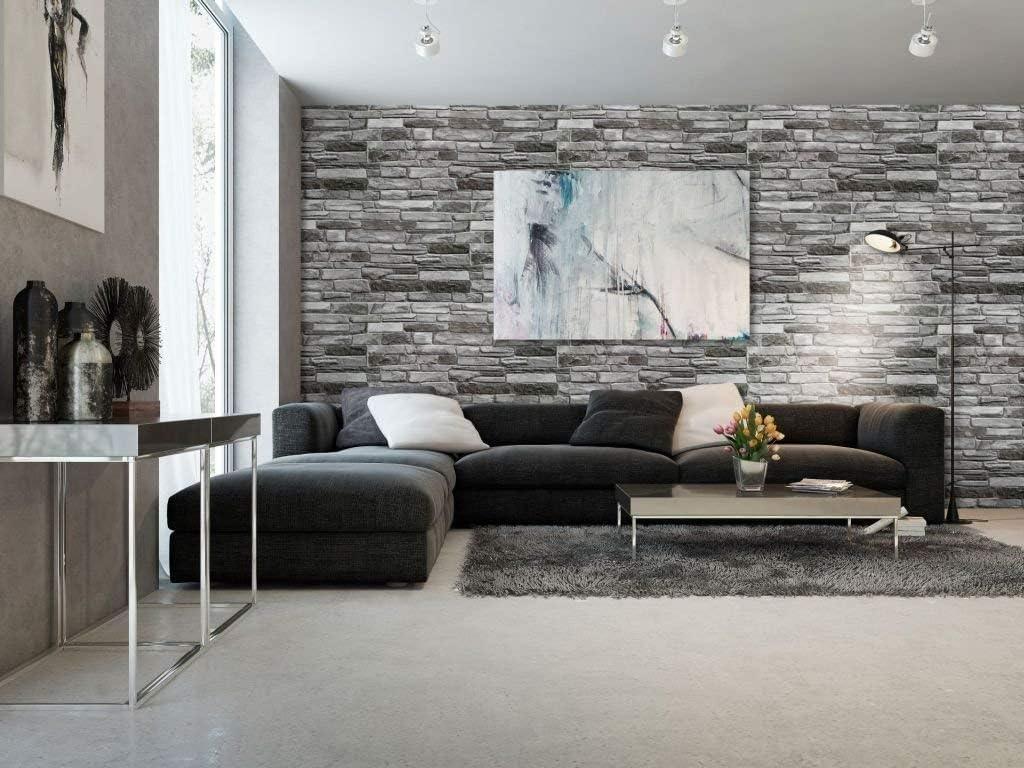 effetto 3D Pannelli decorativi da parete in PVC Grigio colore: grigio