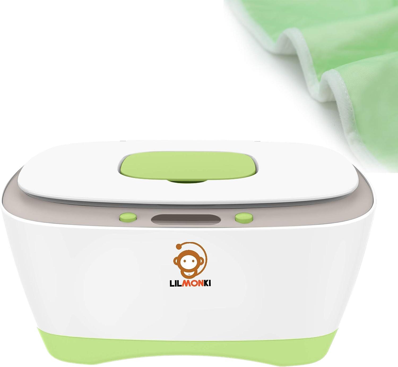 Lilmonki - Calentador y dispensador de toallitas húmedas para bebés y adultos, sin BPA, incluye cambiador adicional: Amazon.es: Bebé