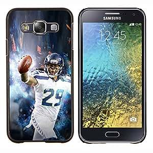 Qstar Arte & diseño plástico duro Fundas Cover Cubre Hard Case Cover para Samsung Galaxy E5 E500 (29 Jugador de la NFL)