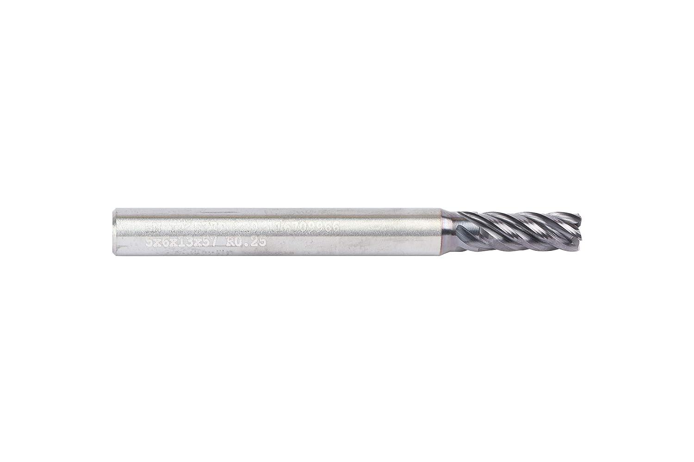 5 mm Cutting Diameter AlTiN Coating Straight Shank RH Cut WIDIA Hanita 577C05002T VariMill II 577C HP End Mill 5-Flute Carbide 0.25 mm Radius