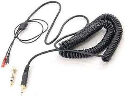 Sqrmekoko Extension Spring Relief Coiled Audio Cable for Sennheiser HD25 HD25-1 HD25-1 II HD25-C HD25-13 HD 25 HD600 Headphones