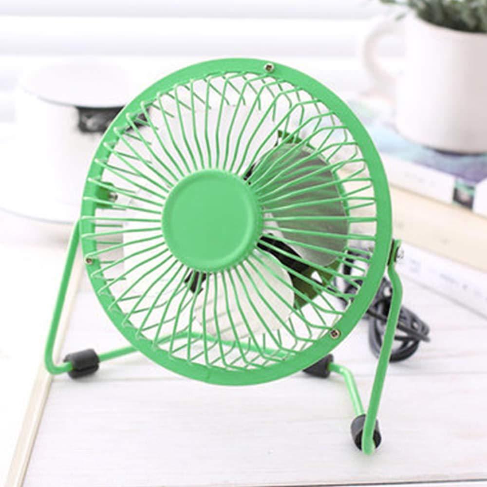 LCHULLE USB Ventilador de Mesa Escritorio Mini Port/átil Ventilador Silencioso con Rotaci/ón de 360/° Fan para Oficina Hogar Viaje Azul