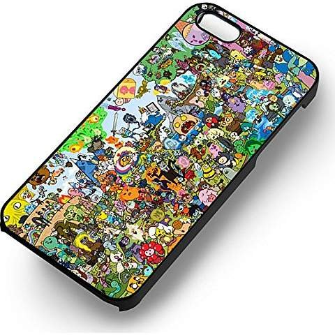 Adventure Time Charachters -tr for Iphone 6 and Iphone 6s Case (Black Rubber Case) (Cartoon Charachters)