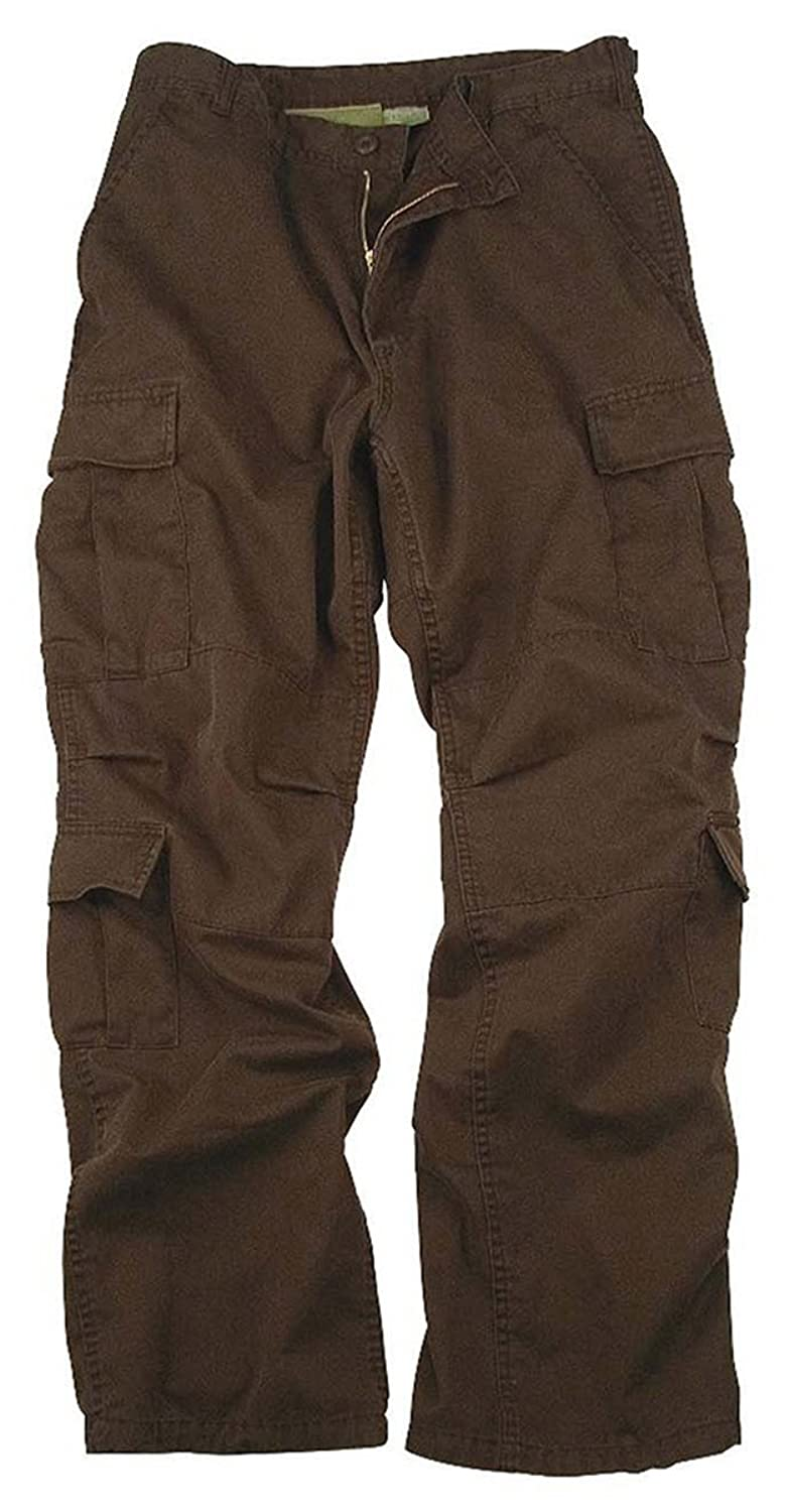 Amazon.com: Mens Pants - Vintage Cargo Paratrooper Fatigues, Brown ...