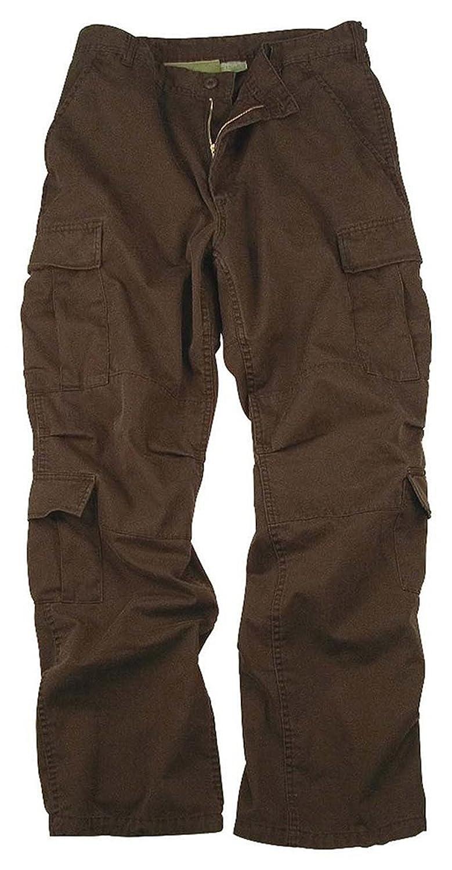 Amazon.com: Mens Pants - Vintage Cargo Paratrooper Fatigues, Brown ...