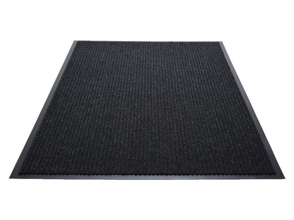 Guardian Golden Series Dual-Rib Indoor Wiper Floor Mat, Vinyl/Polypropylene, 4'x6', Charcoal