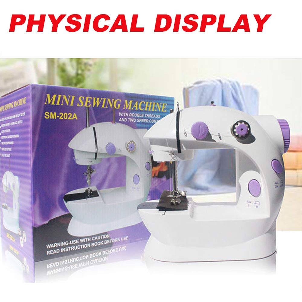 Mini Sewing Machine with Extension Table Adjustable Speed Crafting Mending Machine with Foot Pedal for Household Kids Beginners Travel Use