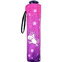 POS Handels GmbH Taschenschirm mit Einhorn Motiv, Regenschirm für Mädchen, manueller Öffnung, windfest Paraguas clásico…