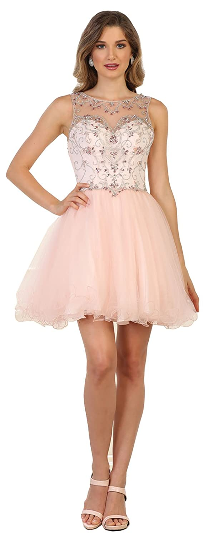 bluesh Formal Dress Shops Inc FDS1555 Graduation Short Demure Dress