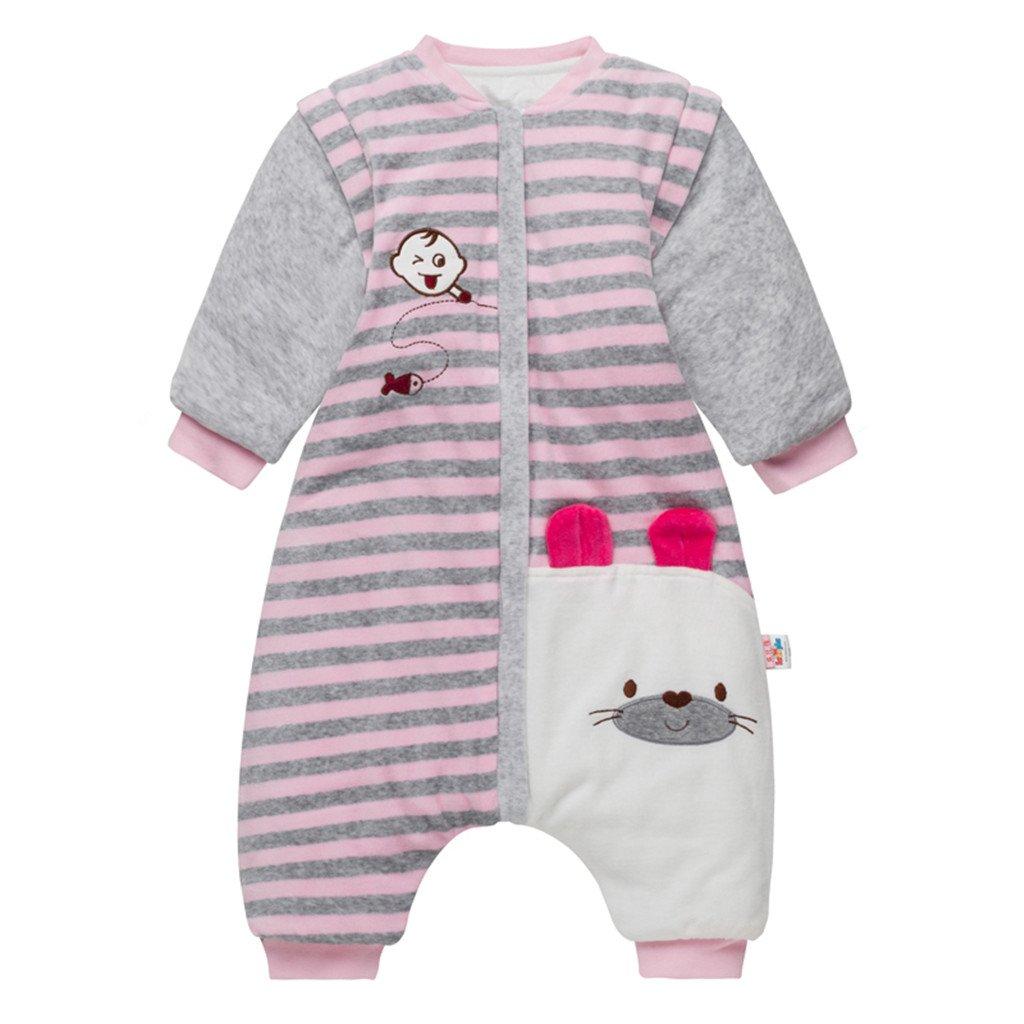 Sacos de Dormir para Bebés 3.5 Tog - Mantas para Niño Mangas Extraíbles Rayas Diseño para 9-24 Meses: Amazon.es: Bebé
