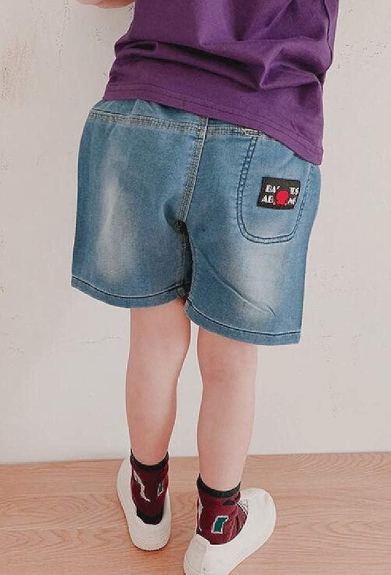 Joe Wenko Girls Outdoor Elastic Waist Denim Boys Jean Shorts