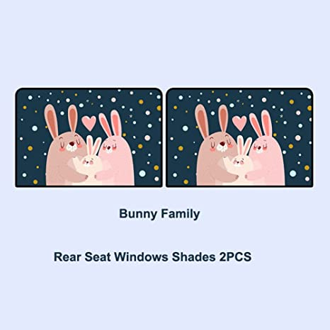Pleasing Amazon Com Cute Rabbit Car Window Shade For Side And Rear Gmtry Best Dining Table And Chair Ideas Images Gmtryco