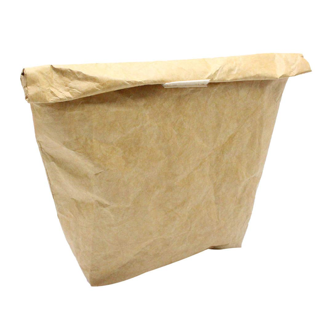 Lunch Bags with Kraft Paper eusable Paper Lunch Bag Durable Insulated Thermal Kraft Paper Lunch Box with Al Environmental Protection Can be Dissolved (Brown)