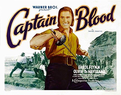 Posterazzi Captain Blood Errol Flynn 1935 Movie Masterprint Poster Print (14 x 11)