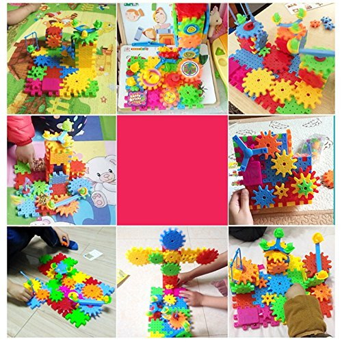 Poity 3D Puzzle Building Blocks Electric Gears DIY Bricks Kid Children Toy