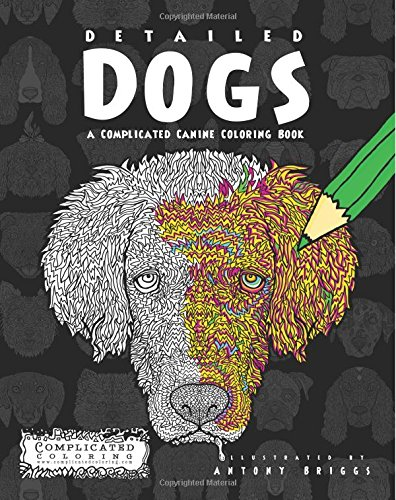 Detailed Dogs Complicated Canine Coloring product image