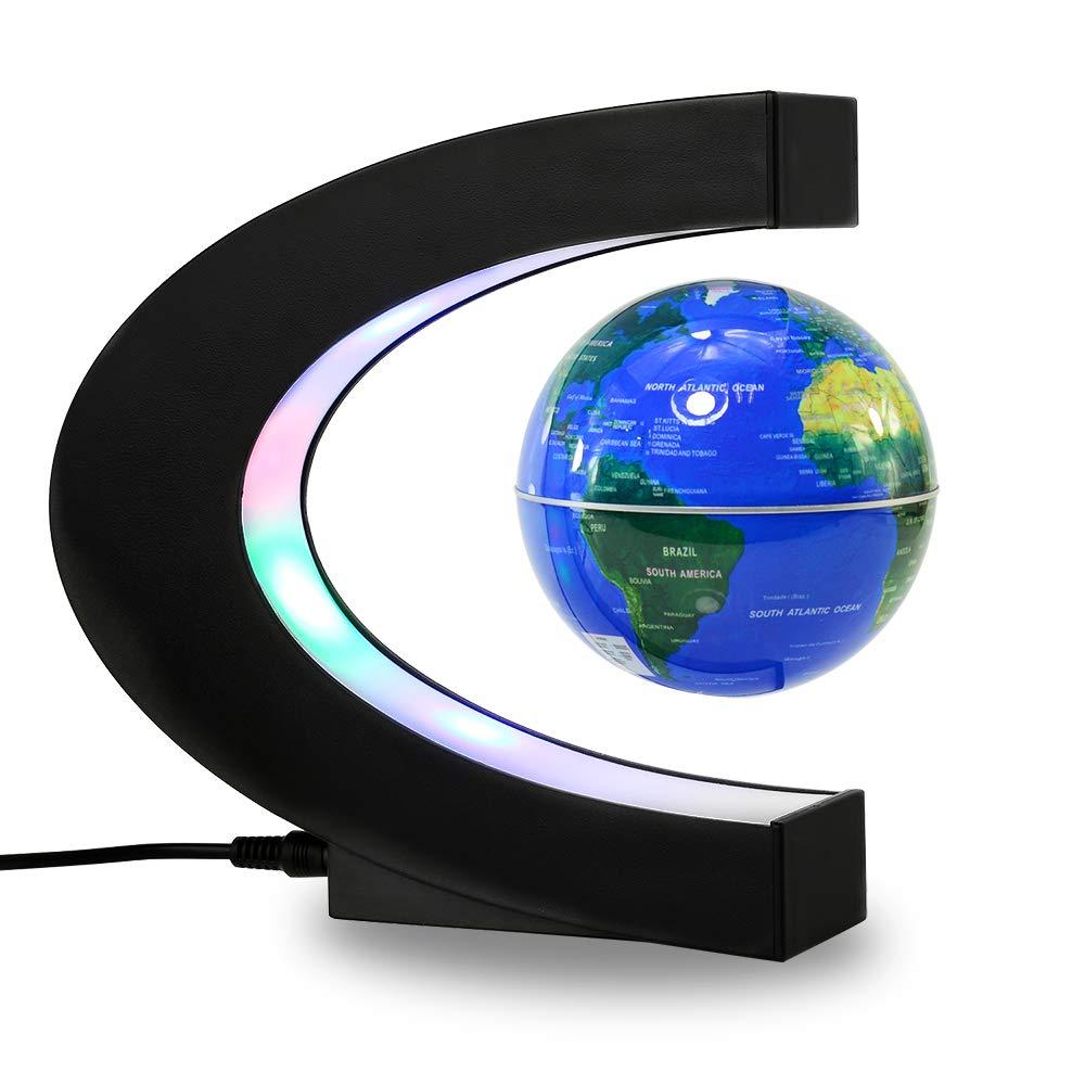 NJHG 3'' Magnetic Levitation Floating World Globe Maglev Earth Geographic Globes for Kids Teaching Home Office Desk Decoration