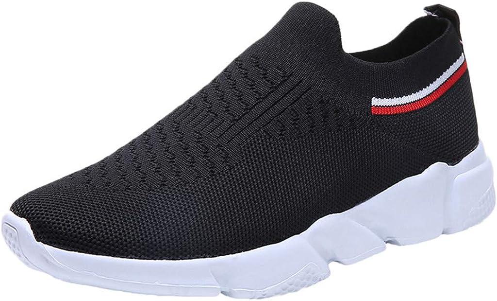 LANSKIRT Zapatillas Running de Mujer Sin Cordones Calzado Deportivo de Malla para Actividades Al Aire Libre Zapatos Transpirables para Correr Zapatillas de Deportivas Verano: Amazon.es: Zapatos y complementos
