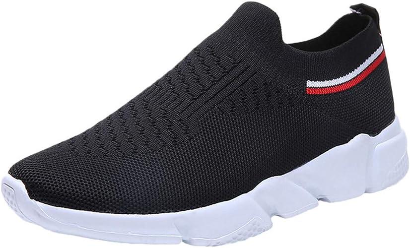 LANSKIRT Zapatillas Running de Mujer Sin Cordones Calzado ...