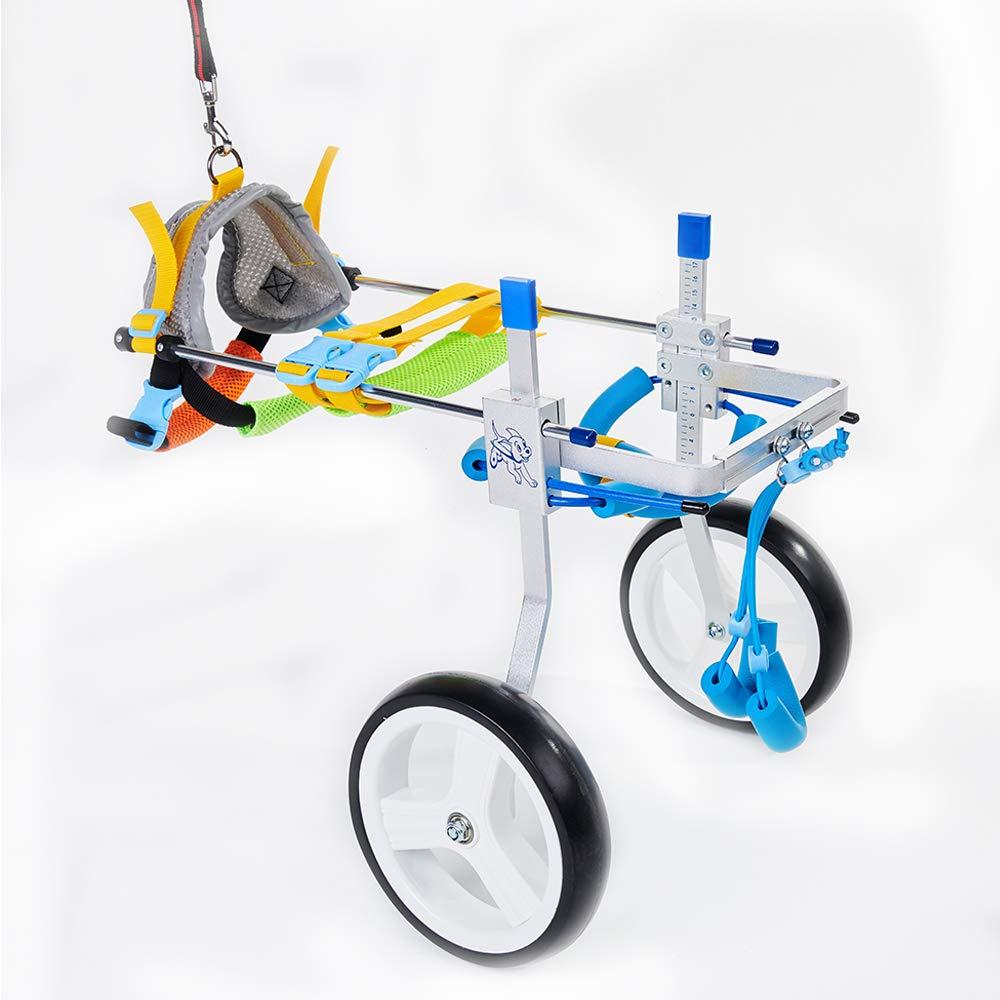 Jump Adjustable Dog Pet Wheelchair for Hind Legs Rehabilitation, 2 Wheels Dog Cart Wheels (S) by Jump