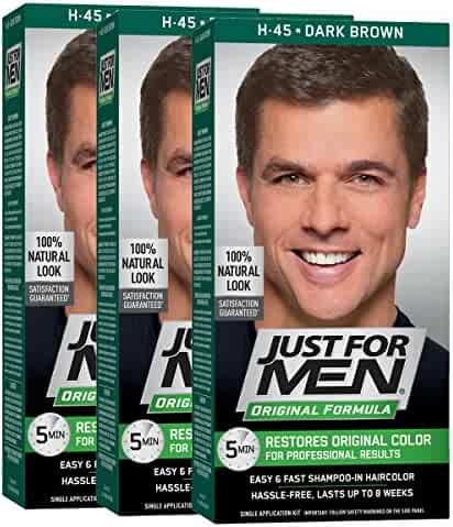 Just For Men Original Formula Men's Hair Color, Dark Brown (Pack of 3)
