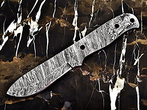 "ColdLand | 8.25"" Custom Handmade Damascus Steel Blank Blade Knife Making Supplies SB82"