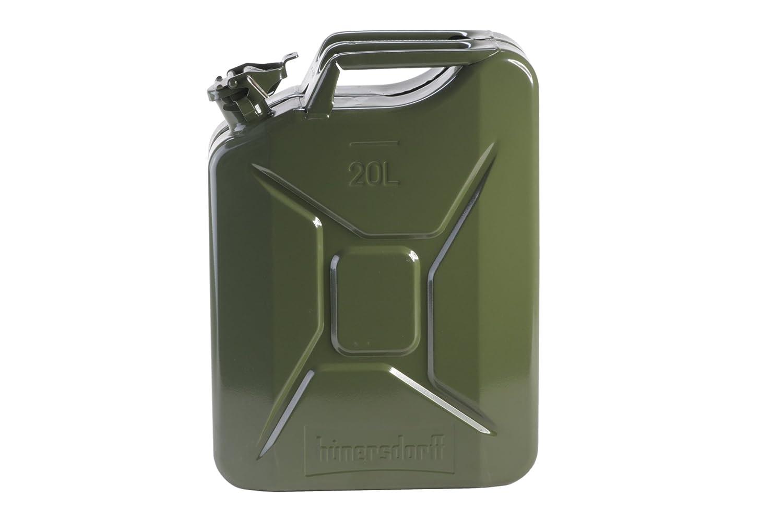 Metall-Kraftstoff-Kanister CLASSIC 20l, mit UN-Zulassung für Benzin, Diesel und andere Gefahrgüter, oliv H&G 805751