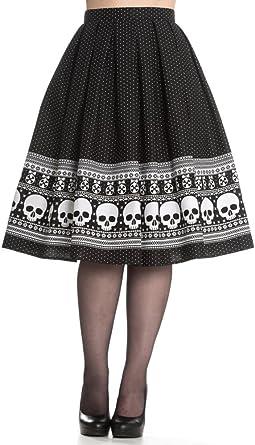 Hell Bunny Clara Skirt S: Amazon.es: Ropa y accesorios