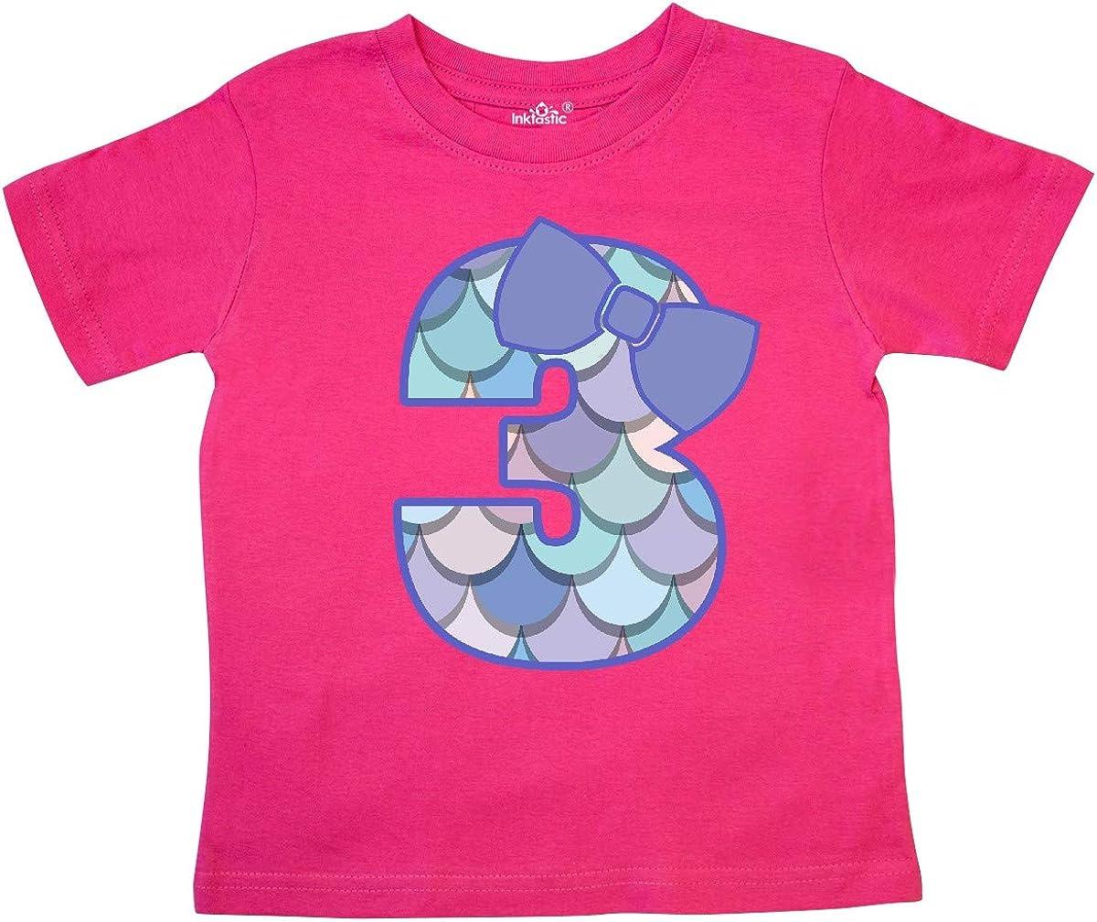 inktastic 3rd Birthday Mermaid 3 Year Old Girl Toddler T-Shirt